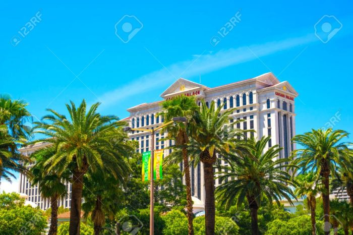 Las Vegas, United States of America - May 05, 2016: The main entrance in Caesars Palace - a luxury hotel and casino at Las Vegas, United States of America on May 05, 2016