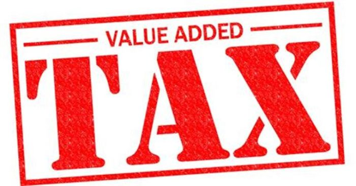 VALUE ADDED TAX red Rubber Stamp over a white background.